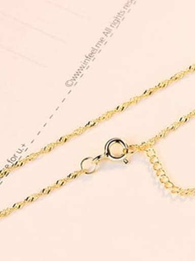 Crude  Gold 925 Sterling Silver Minimalist Singapore Chain