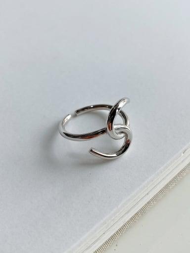 925 Sterling Silver Irregular Trend Geeky Ring