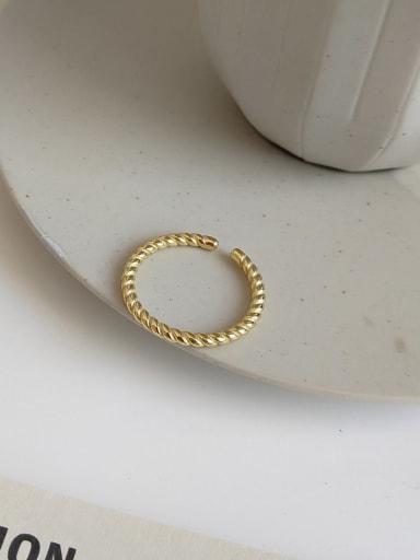 J 928 single twist ring 925 Sterling Silver Geometric Minimalist Midi Ring