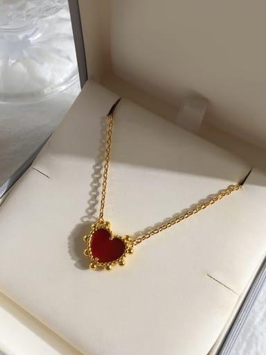 gold red Copper Malchite Multi Color Necklace