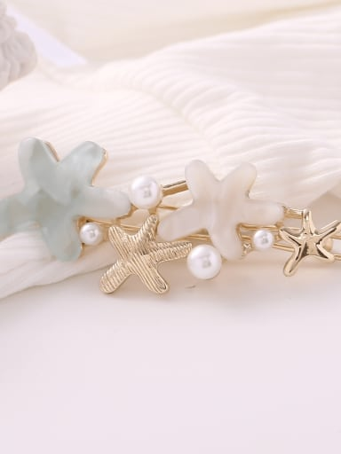 Light blue Alloy Cellulose Acetate Minimalist Star  Hair Pin