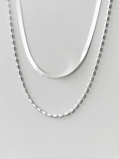 925 Sterling Silver Irregular Minimalist Multi Strand Necklace