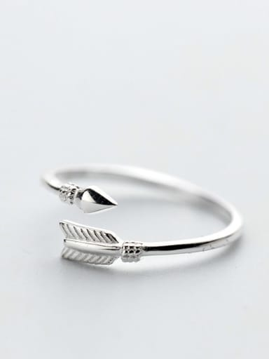 925 Sterling Silver Feather Minimalist Free Size Ring