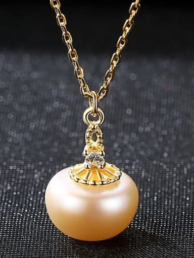 Pink 6g03 925 Sterling Silver Freshwater Pearl Pendant Necklace