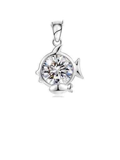 925 Sterling Silver Cubic Zirconia Minimalist Pisces Constellation  Pendant