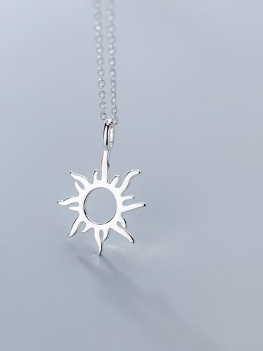 925 Sterling Silver Sun Flower Minimalist Necklace