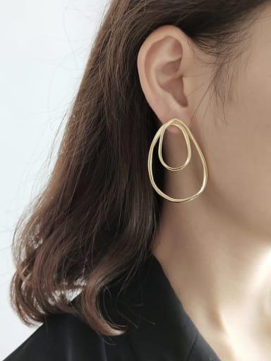 925 Sterling Silver Hollow Geometric Minimalist Chandelier Earring