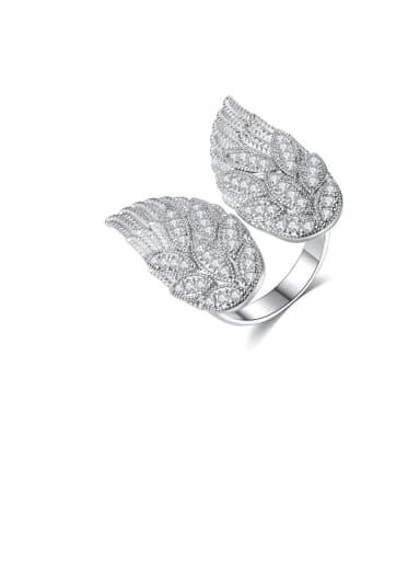 Copper Cubic Zirconia Butterfly Dainty Ring