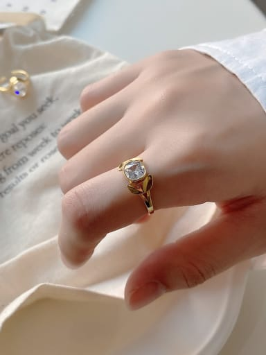 925 Sterling Silver Cubic Zirconia White Ring