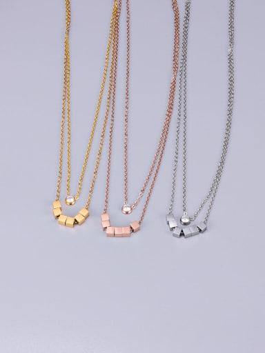 Titanium Smooth  Squares  Necklace
