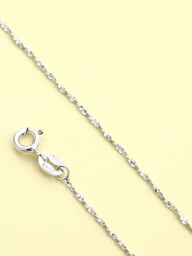 White Gold Star chain 925 Sterling Silver Minimalist  Chain