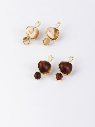 Zinc Alloy Resin Geometric Minimalist Drop Earrings