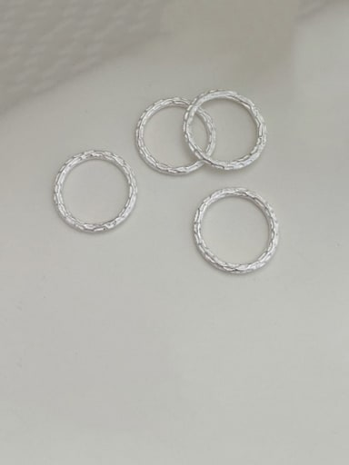 925 Sterling Silver Round Minimalist Band Ring