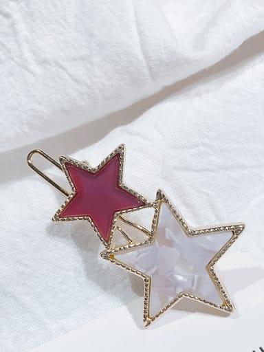 Purple flower Alloy Cellulose Acetate Minimalist Star  Hair Pin