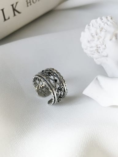 925 Sterling Silver Retro Lace free size Ring