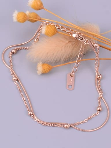 Titanium Bead Round Trend Strand Bracelet
