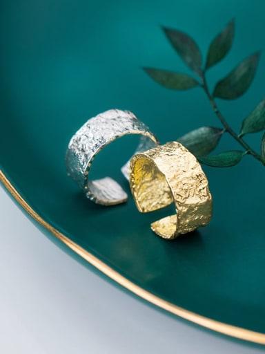 925 Sterling Silver width Irregular Vintage Band Ring