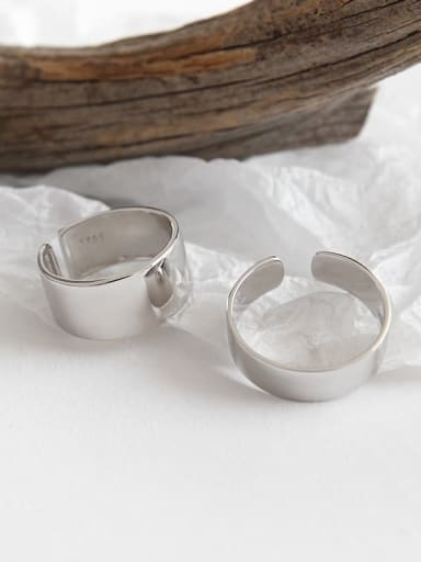 925 Sterling Silver Smooth Round Minimalist Free Size Band Ring