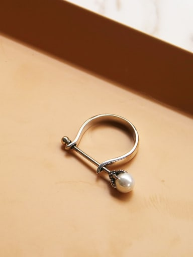 925 Sterling Silver Geometric Minimalist Free Size Midi Ring