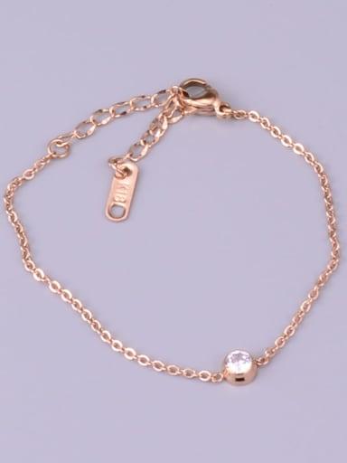 Titanium Cubic Zirconia Round Minimalist Adjustable Bracelet