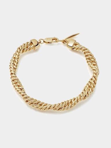 Brass Geometric Minimalist double strand twist, lingering chain
