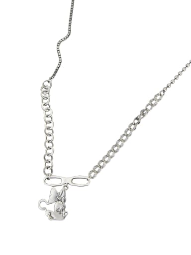 Vintage Sterling Silver With Platinum Plated Cute Mickey Mouse Necklaces
