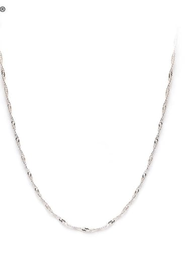 925 Sterling Silver Minimalist Singapore Chain