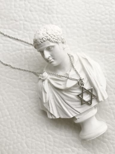 925 Sterling Silver five pointed star Pendant Necklace