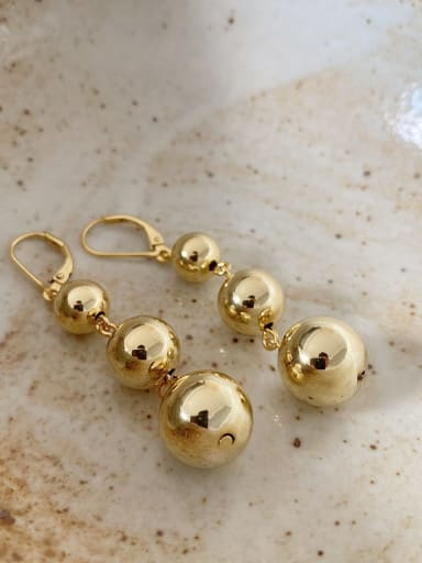 925 Sterling Silver Bead Round Vintage Single Earring