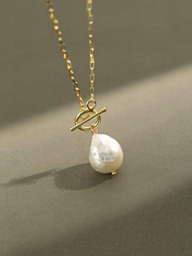 925 Sterling Silver Freshwater Pearl Irregular Vintage Necklace