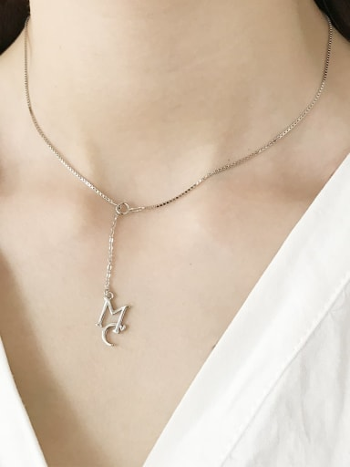 925 Sterling Silver minimalist Link Necklace (without pendants)