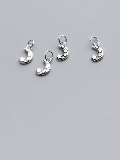 925 Sterling Silver With Small Moon Pendant DIY Jewelry Accessories