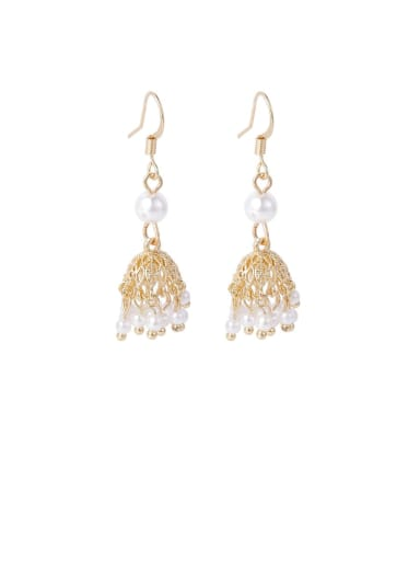 Alloy With Imitation Gold Plated Vintage Irregular Drop Earrings
