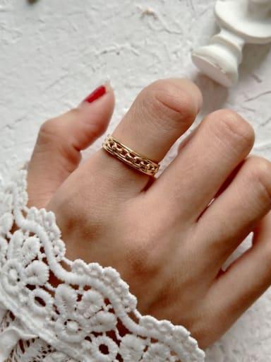 925 Sterling Silver Cross Chain Minimalist Free Size Midi Ring