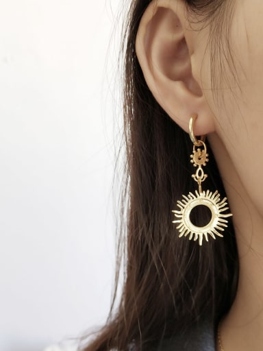 925 Sterling Silver Statement    Sun Goddess  Single Earrings