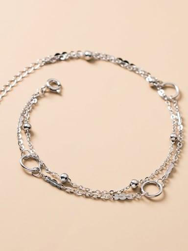 925 Sterling Silver Irregular Minimalist Strand Bracelet