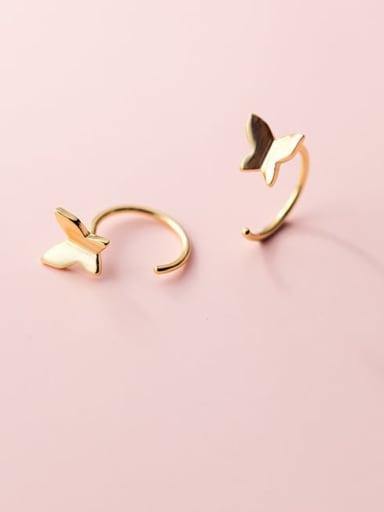 925 Sterling Silver Butterfly Minimalist Hook Earring