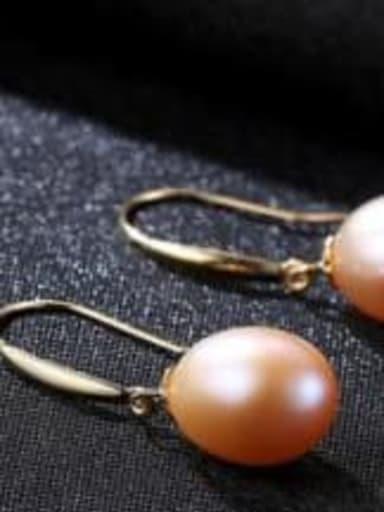 Purple 04B04 925 Sterling Silver Freshwater Pearl Multi Color Oval Minimalist Hook Earring