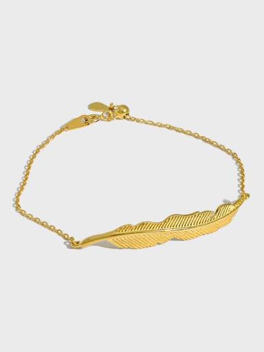 925 Sterling Silver Leaf Vintage Bracelet