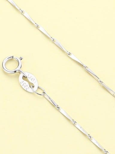 White gold melon seed chain 925 Sterling Silver Minimalist  Chain