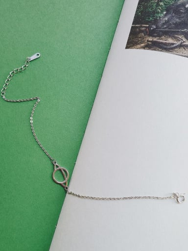 925 Sterling Silver round Bracelet