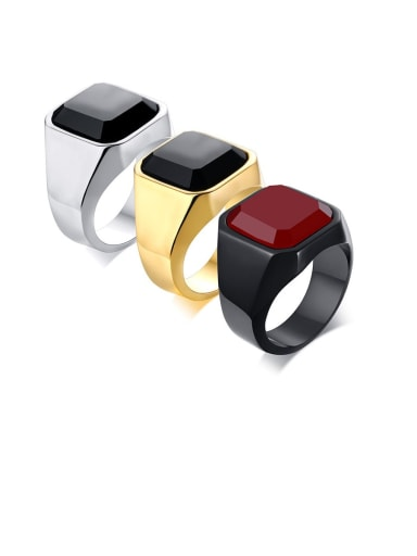 "Titanium Carnelian Men""S Ring"