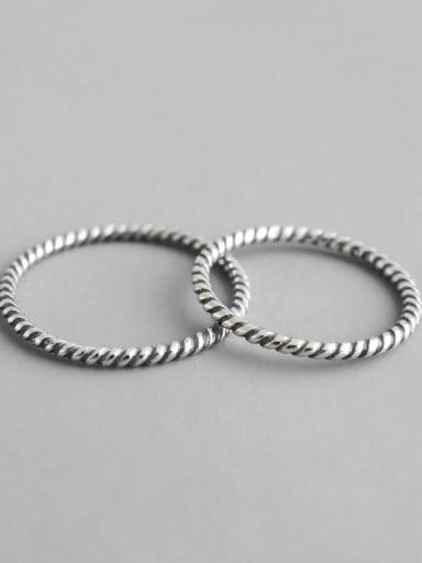 925 Sterling Silver Vintage 1.2 thread twist ring