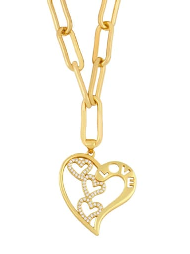 love Titanium Cubic Zirconia Heart Minimalist Necklace