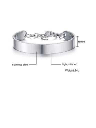 steel Titanium Irregular Minimalist Smooth Cuff Bangle