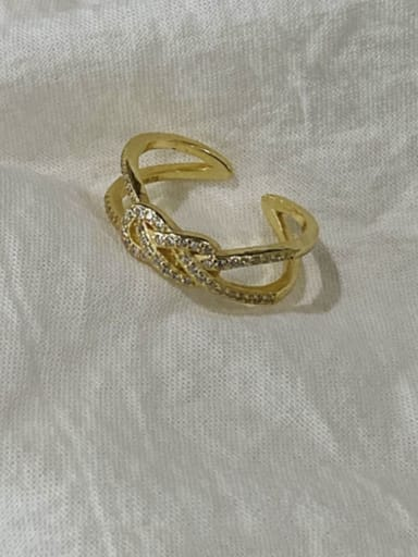 925 Sterling Silver  Vintage Knotted Diamond  Free Size Ring