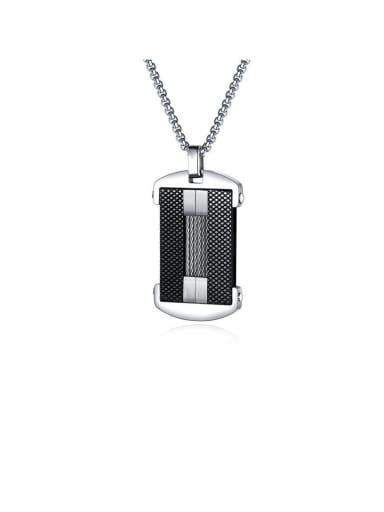 Titanium Simple Geometry  Necklace