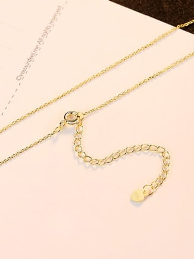 gold 40+5cm 925 Sterling Silver Minimalist Cable Chain