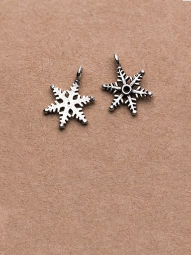 925 Sterling Silver With Minimalist Snowflake Pendant Diy Jewelry Accessories