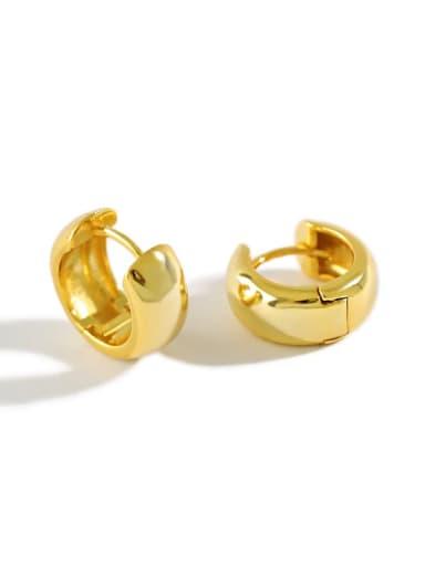 925 Sterling Silver Round Vintage Huggie Earring